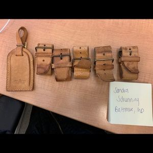 Louis Vuitton Luggage Tag and 5 bands